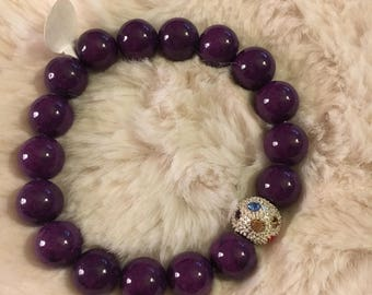 4 colours - Mountain Jade beaded bracelet