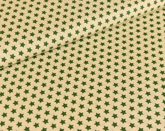 Cotton fabric joyful Christmas Star Green / cream (9,50 EUR / meter)