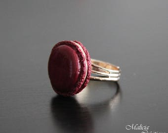 "Greedy ring ""Macaroon"" polymer clay"