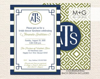 Greek Key Invitation: Digital Printable Invite