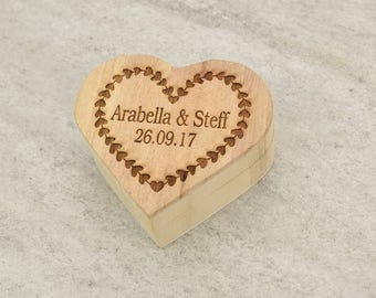 Wooden ring box - personalised