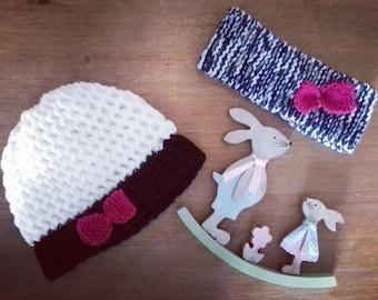 Hat and girl headband