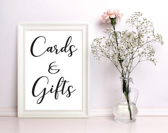 Cards & Gifts sign Printable for weddings, parties, or special occasions