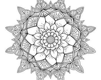 10 x Tangles, Celtic Knots & Mandala Adult Coloring Pages - Instant PDF Download for DIY A4 Printing Colouring 02