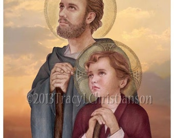 Saint Joseph, Foster Father of Jesus Catholic Art Print #4317