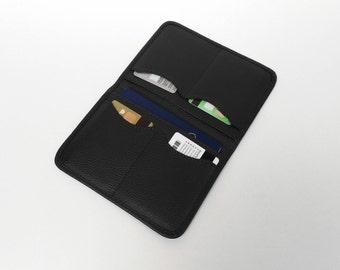 Passport holder, Black Passport case, Passport Wallet, Passport Case, Black passport wallet, Travel wallet