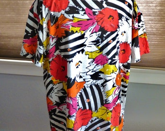 80s, 90s Ginger floral slouchy shirt