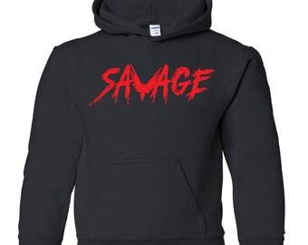 Savage Hoodie. Logan Paul Merch. Logang Merch. Savage Youth Hoodie. S-XL.