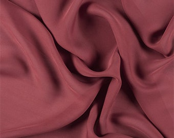 Copper Silk Double Georgette, Fabric By The Yard