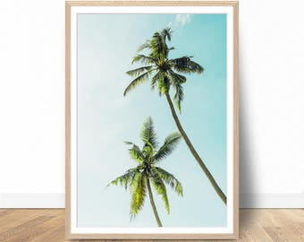 Palm Tree Print, Palm Digital Download, Printable Palm Art, Palm Photography, Palm Tree Modern Print, Palm Tree Download