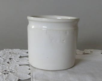 Vintage Measuring Cup Hoganas Keramik Jar 1/8 Liter Sweden Scandinavian Design Stoneware White Höganäs Keramik