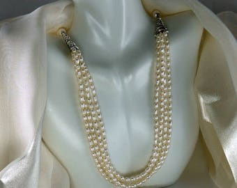 Pearl multistrand necklace