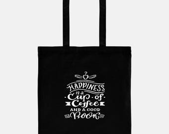 Gift for Book Lover, Personalized Tote, Book Bag, Coffee Lover Gift, Gift for Coffee Lover, Coffee Gift, Book Club Gift