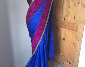 BLUE & MAGENTA SAREE