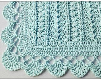 Instant DOWNLOAD Crochet Pattern - Spring Delight Afghan/Blanket for Baby PDF