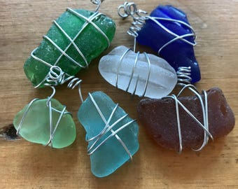 Medium Ornaments - Lake Michigan Beach Glass