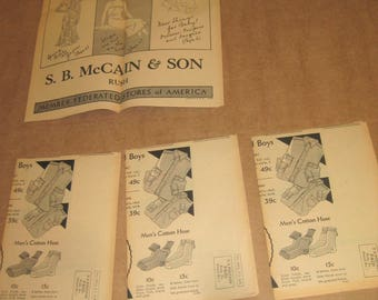 S B McCain and Son Facts & Fashions advertising flyer dated 1932  [c4892o]