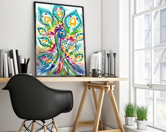 Custom Oil Painting - Abstract Animals