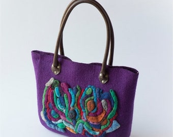 Summer Sale Handmade handbag - purple - OOAK