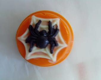 Spider Web Candy Covered Cookies-Halloween Party, Trick or Treat (12)