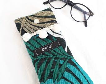 Glasses cases palm leaves
