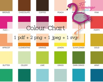 COLOUR CHART, Printable colour chart, sellers tools, graphic designer must have, instant download