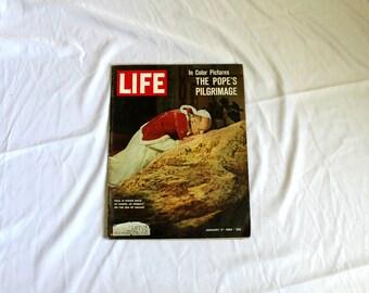 Pope Paul VI Life Magazine. January 17, 1964 Rare Vintage Catholic Pope Life Magazine. 1960s Life Magazine. Christianity Catholic Gift Decor
