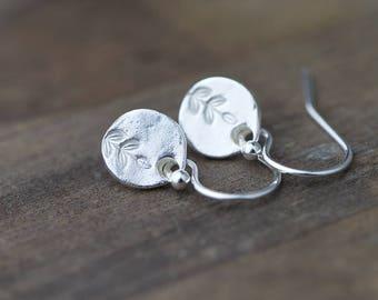 Tiny Leaf Earrings Jewelry Handmade, Mother's Day Gift Idea, Mother's Day Jewelry Gift, Gift for Mom