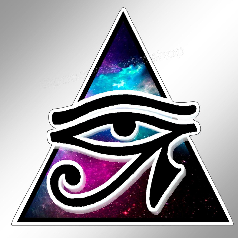 The eye of horus eye of ra decal in blues pagan protection zoom biocorpaavc