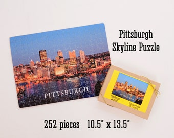 Pittsburgh Skyline Puzzle - 252 pieces