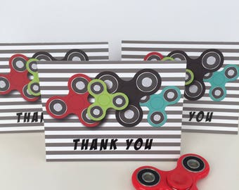 Fidget Spinner Folded Note Thank you Birthday Class Party