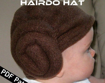 Space Princess Baby Hairdo Hat PDF Pattern