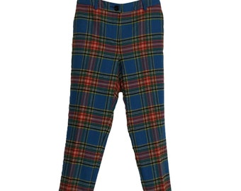 Vintage Wool Capri British Tweed High Waist Tapered Pants Mod Pedal Pushers Cigarette Pants Beatnik Pants Size Small