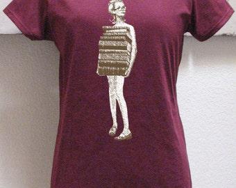 book tshirt - book shirt - womens tshirt - vintage tshirt - book lover - book gift - librarian gift - book worm - JUST BOOKS - sweatshirt UsGwF