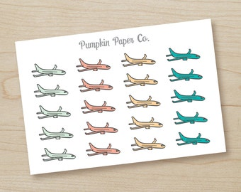P218-Flight planner stickers, travel planner stickers, airplane stickers, planner stickers, reminder stickers, flight, 20 stickers, PPC143