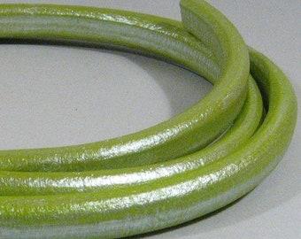25% Off Regaliz Licorice Leather - Metallic Pistachio - RM14 - Choose Your Length