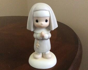 "Precious Moments Figurine ""Get Into The Habit of Prayer"" Enesco #12203."