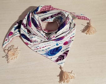 Children scarf / feathers