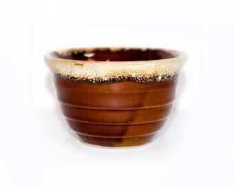 USA Brown Drip Pottery Bowl by BigMuddyVintageShop