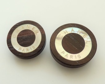 Chanel Paris Wooden MOP Button 18mm, 20mm  / Price is for one button