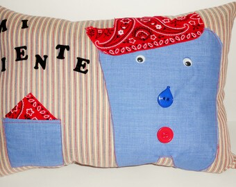 Tooth Fairy Pillow/Mexican tooth pillow/Spanish tooth pillow/Latino tooth pillow/almohada diente/tooth fairy pillows/kids tooth pillow