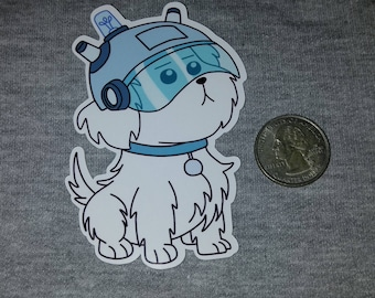 Snuffles SNOWBALL Die-Cut Sticker Label Rick And Morty