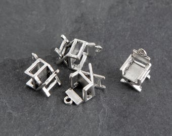 20 Antique Silver Director's Chair Charms, Movies Hollywood Film Jewelry Charm Destash