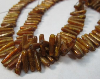 Natural Golden Coral Branch Beads 12-13x3mm