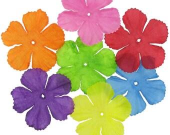 Silk Flower Confetti 60 flowers - Birthday Confetti, Confetti Balloon Filler, Glitter Confetti, Confetti Popper, Wedding Confetti Decor