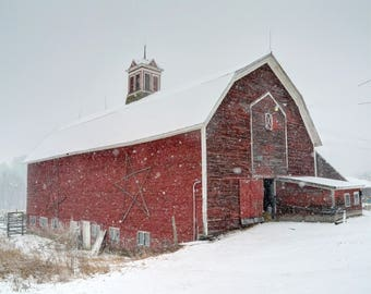 Vermont Barn in Winter