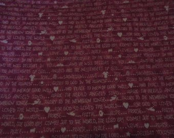 """Christmas fabric, """"Home Spun Christmas"""" by Carol Endres"""
