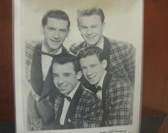 The Four Lads, 1950s Singing Group Head Shot Promotional Photo