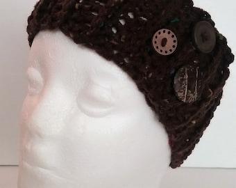 Brown Variegated Ear Warmer Headband