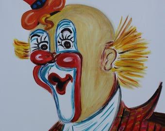 Original Figurative painting Clown